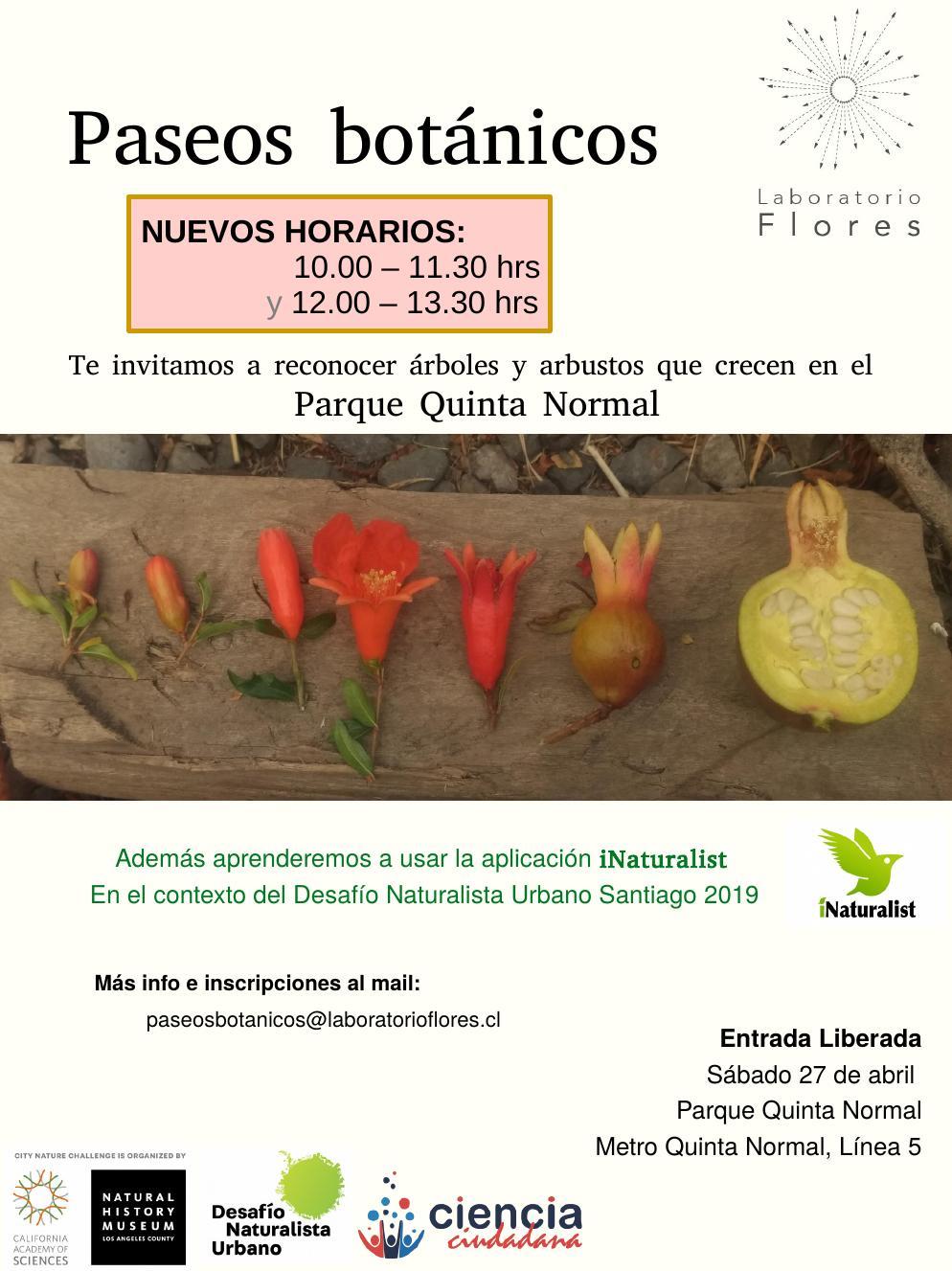 afiche Paseos Botánicos-iNaturalist-2do